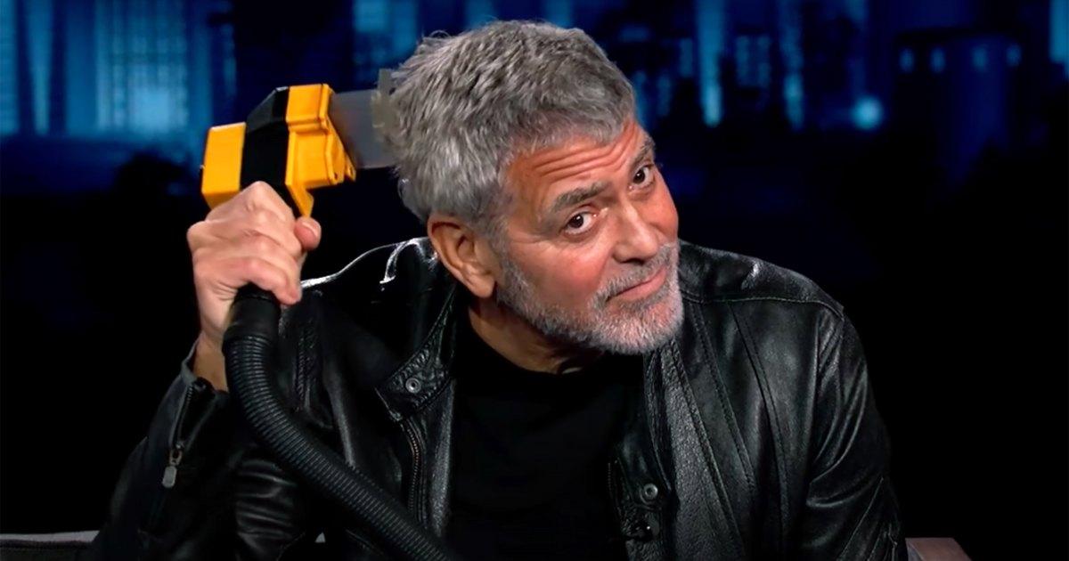 George Clooney Using His Flowbee