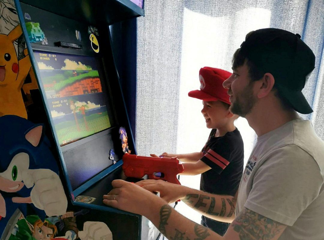 A Dad Discovers His Talent When He Builds Son an Arcade